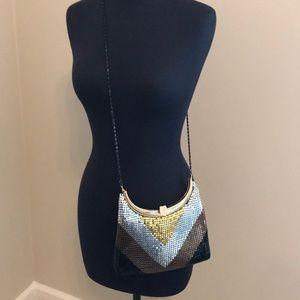 Handbags - Vintage boho metal mesh purse gold silver bronze